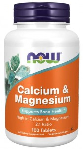 Calcium & Magnesium 2:1 100 tabletek WAPŃ i MAGNEZ NOW Food's - SUPLEMENT DIETY
