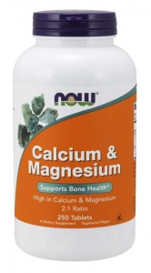 Calcium & Magnesium 2:1 250 tabletek WAPŃ i MAGNEZ NOW Food's - SUPLEMENT DIETY