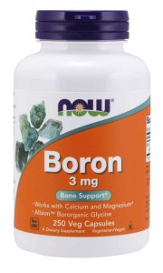 Boron 3 mg 250 kapsułek  Veg NOW Food's  SUPLEMENT DIETY